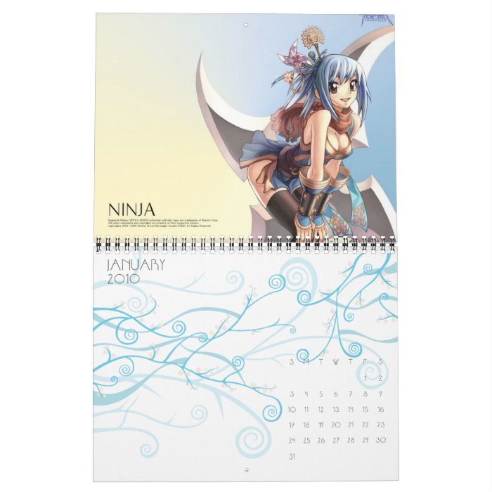 Desire Ragnarok Online Calender Calendar