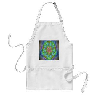 Desired kaleidoscope colorful design image adult apron