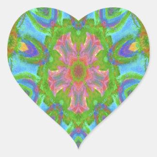 Desired kaleidoscope colorful design image heart sticker