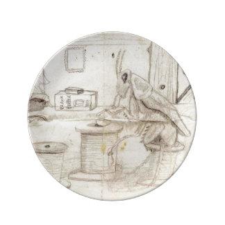 Desiree almuerza plato de cerámica