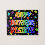 "[ Thumbnail: ""Desiree"" First Name, Fun ""Happy Birthday"" Jigsaw Puzzle ]"