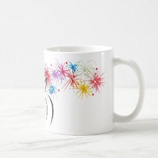 Desiree with fireworks classic white coffee mug