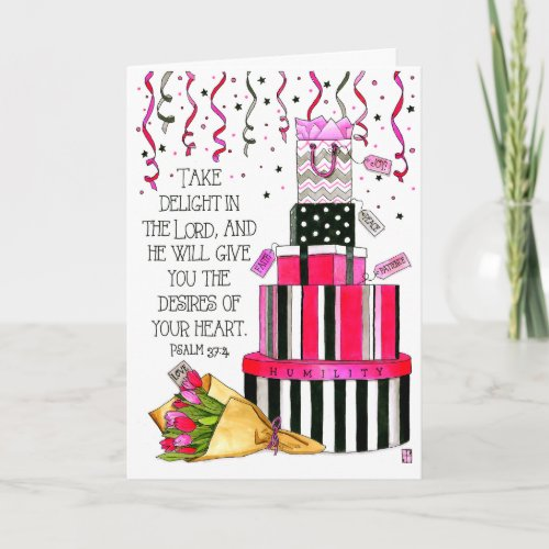 Desires of Your Heart Personalized Birthday Card
