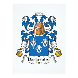 Desjardins Family Crest Card