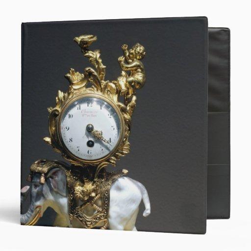 Desk clock 3 ring binder