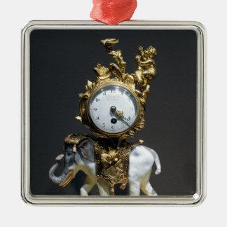Desk clock metal ornament