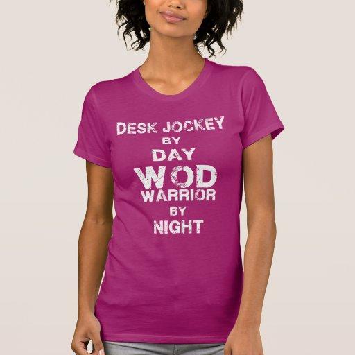 Desk Jockey by Day, WOD Warrior by Night CrossFit T-shirt