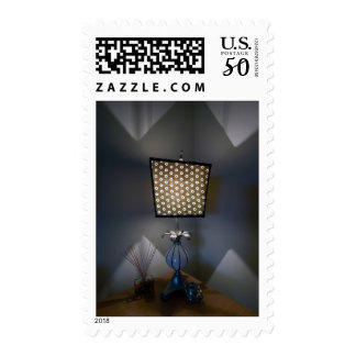 Desk Lamp Still Life Custom Postage Stamps
