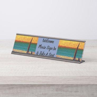 Desk Office Boat Sea Name Design Destiny'S Destiny Desk Name Plate