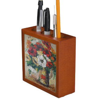 Desk Organiser Ann Hayes Painting Flower Mix Delig