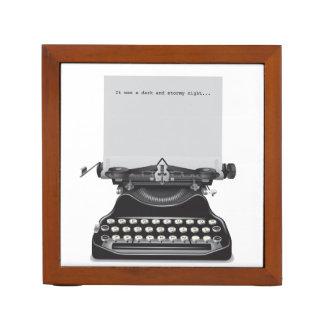 Desk Organizer with Vintage Typewriters