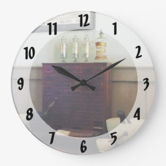 Desk With Mortar and Pestles Wall Clocks