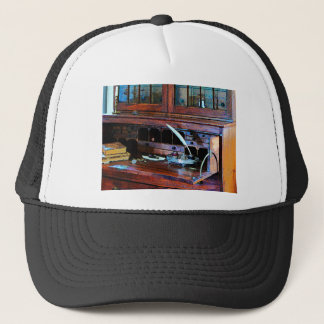 Desk With Quill and Books Trucker Hat
