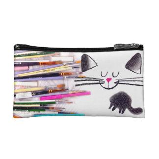 desktop black cat makeup bag