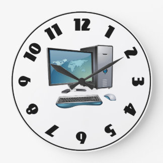 Computer Wall Clocks Zazzle