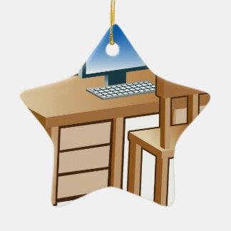 Desktop Computer Desk Icon Ceramic Ornament