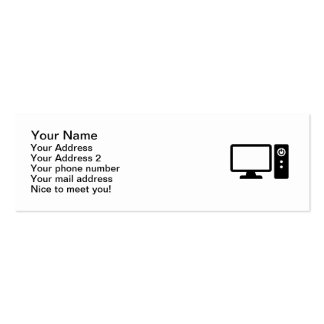 Desktop computer Double-Sided mini business cards (Pack of 20)