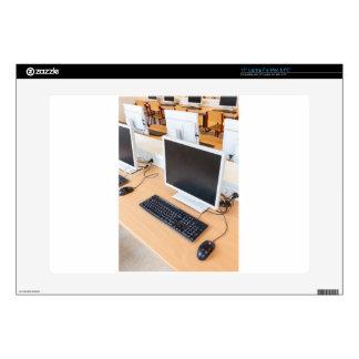 """Desktop computer in computer class on school skin for 15"""" laptop"""