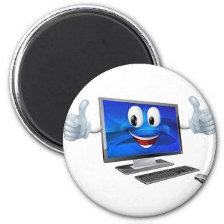 Desktop computer mascot fridge magnets