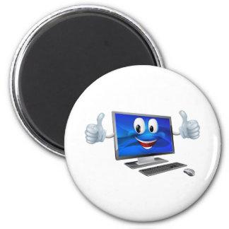 Desktop computer mascot fridge magnet
