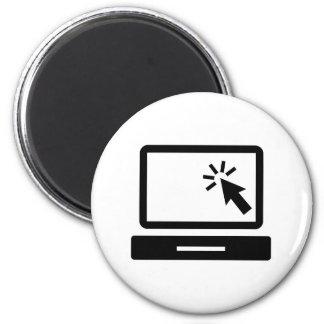 Desktop computer mouse click fridge magnet
