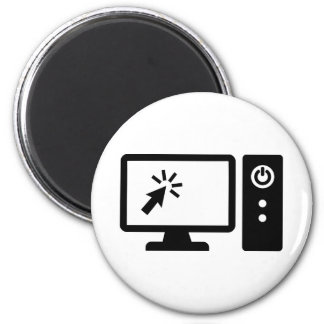 Desktop computer screen fridge magnet