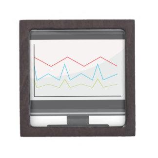 Desktop Monitor Financial Report Icon Jewelry Box