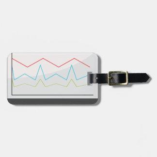 Desktop Monitor Financial Report Icon Luggage Tag