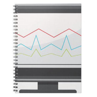 Desktop Monitor Financial Report Icon Notebook