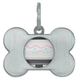 Desktop Monitor Financial Report Icon Pet ID Tag