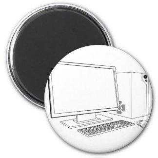 Desktop PC computer workstation Magnets