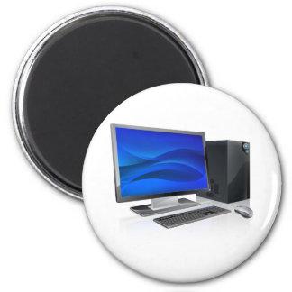 Desktop PC computer workstation Fridge Magnet