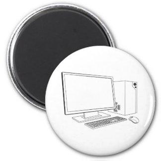 Desktop PC computer workstation Refrigerator Magnets