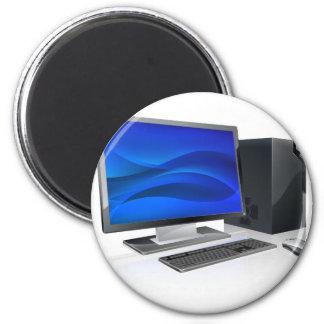 Desktop PC computer workstation Refrigerator Magnet