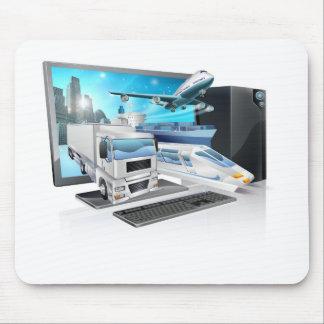 Desktop pc logistics concept mouse mat