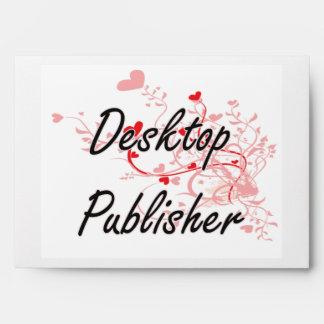 Desktop Publisher Artistic Job Design with Hearts Envelope