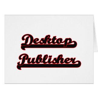 Desktop Publisher Classic Job Design Large Greeting Card