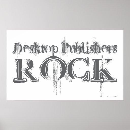 Desktop Publishers Rock Posters