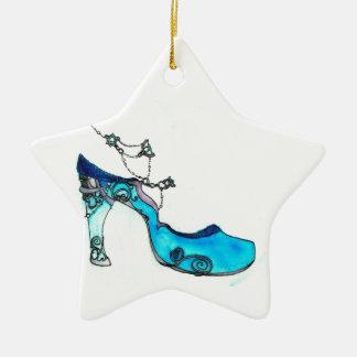 Deslizador de cristal adorno navideño de cerámica en forma de estrella