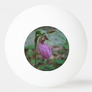 Deslizador de señoras rosadas pelota de tenis de mesa