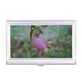 Deslizador de señoras rosadas caja de tarjetas de presentación