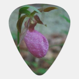Deslizador de señoras rosadas uñeta de guitarra