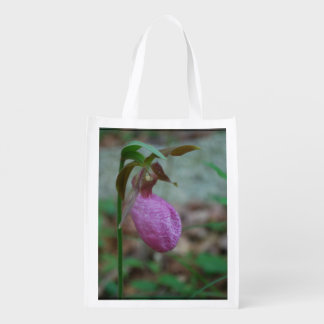 Deslizador de señoras rosadas bolsas reutilizables