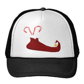 Deslizador rojo del duende con los bastones de gorra