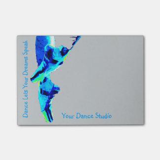 Deslizadores azules de Pointe del ballet Notas Post-it®