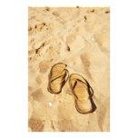 deslizadores de oro en la playa papeleria personalizada