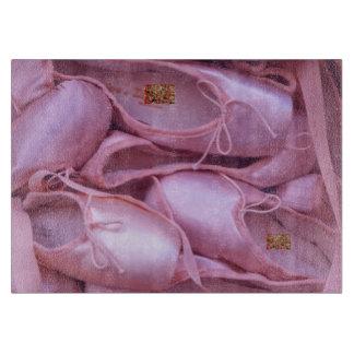 Deslizadores del ballet tabla de cortar