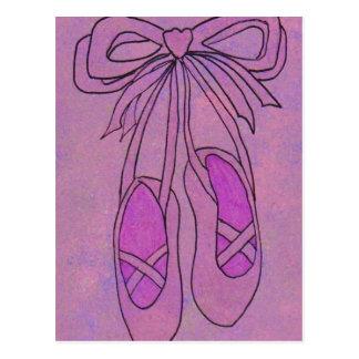 Deslizadores del ballet tarjeta postal