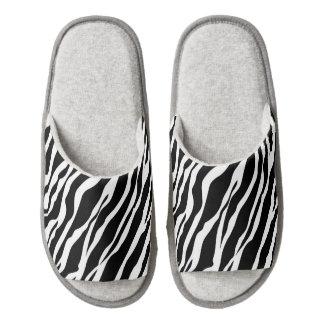Deslizadores del estampado de zebra