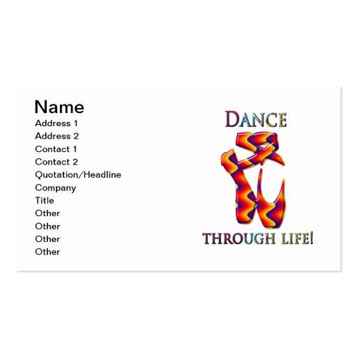 Deslizadores multi del ballet tarjetas de visita